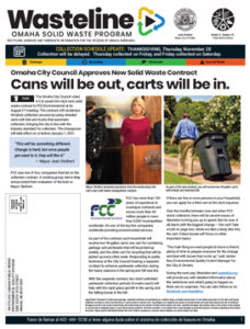 Photo of front cover of current Wasteline publication