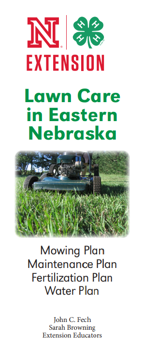 Photo of front of brochure for Lawn Care in Eastern Nebraska