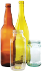 photo of four glass bottles