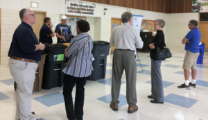 Photo of people at open house
